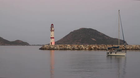Seaside town of Turgutreis and spectacular sunrise.