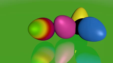 Easter eggs on green specular Surface area