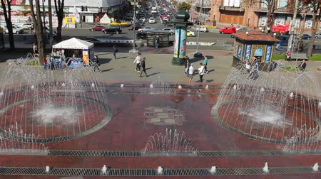 nagylátószögű : beautiful wide big fountain in city center, great place for some rest