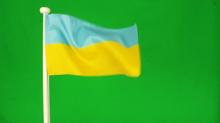 Украина : Flag Ukraine green screen
