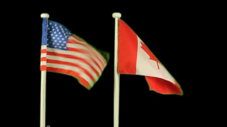 kanada : Flag of USA and Canada isolated