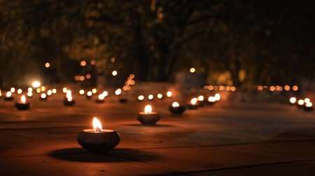 bodhnath : Candles in a temple
