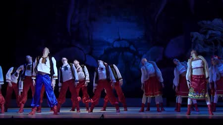 heykelcik : DNiPRO, UKRAINE - JANUARY 7, 2018: Night before Christmas ballet performed by Dnepropetrovsk Opera and Ballet Theater ballet.