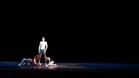 fabuloso : DNIPRO, UKRAINE - SEPTEMBER 7, 2018: Modern ballet performed by members of the Kyiv Youth Theater.