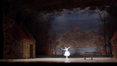 beeldje : DNIPRO, UKRAINE - NOVEMBER 3, 2018: Classical ballet by the Opera and Ballet Theater.
