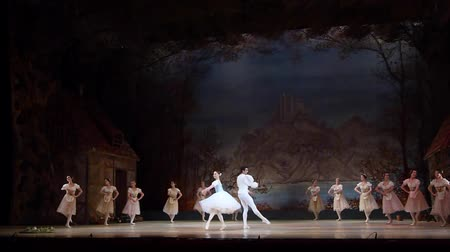 dynamiek : DNIPRO, OEKRA�NE - 3 NOVEMBER 2018: Klassiek ballet door het Opera en Ballet Theater. Stockvideo