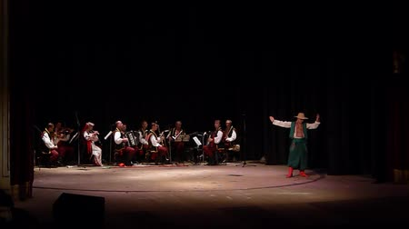 folklór : DNIPRO, UKRAINE - NOVEMBER 7, 2018: At the State Drama Theater.