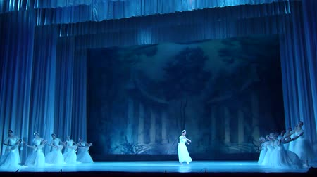 heykelcik : DNIPRO, UKRAINE - NOVEMBER 17, 2018: Opera and Ballet Theater. Stok Video