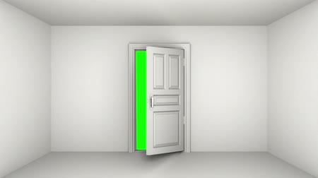 ajtó : Door open, green screen