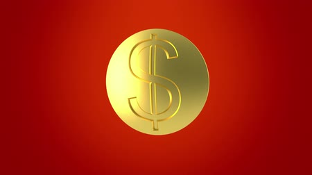 dolar : Dollar sunrise. Gold coin.