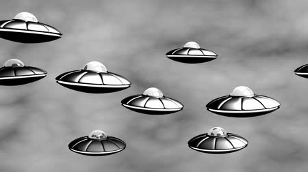 sciencefiction : UFO-invasie. Old Science Fiction Film. Naadloos