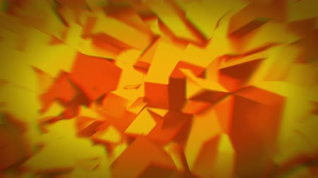 aberration : Animated orange crystals 4K Stock Footage