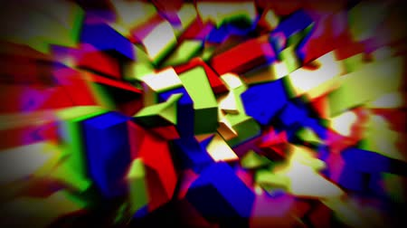 aberration : Colorful animated crystals 4K Stock Footage