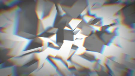 aberration : Animated gray crystals with chromatic aberration 4K