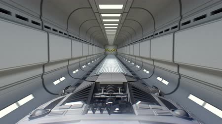 lüktet : Spaceship flies out of the sci-fi tunnel and jump into hyperspace, 3d animation