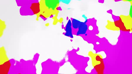 Abstract varicolored blots, 3d animated seamless loop background.