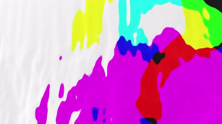 primeval : Abstract multicolored spots, 3d animated seamless loop background. Stock Footage