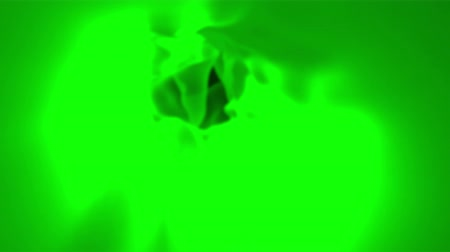 Abstract green cloth, 3d animated seamless loop background. Stok Video