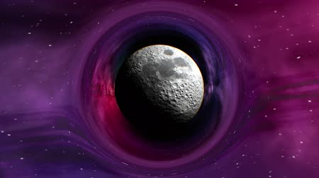 relativity : Curvature of spacetime around the Moon, seamless loop abstract 3D animation. Lunar texture was created in graphic editor without photos and other images.