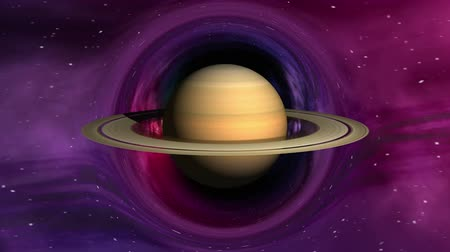 curvature : Curvature of spacetime around the Saturn, seamless loop abstract 3D animation. Texture of Planet was created in graphic editor without photos and other images. Stock Footage