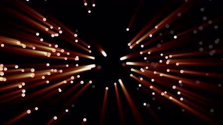 radiante : Little lights flutter in the darkness. 3D animation of particles, seamless loop. Stock Footage