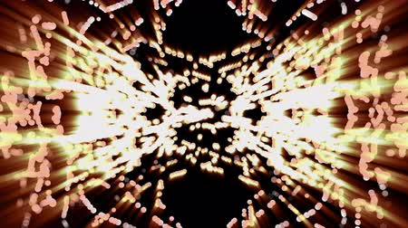 intersperse : Flaming radiant particles on black background, seamless loop 3D animation.