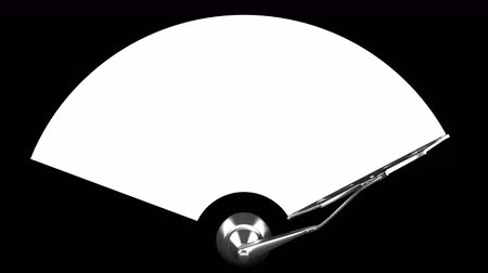 lave : Windscreen wiper on white with alpha channel mask, seamless loop 3d animation
