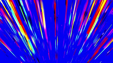 feixes : Abstract multicolored fan-shaped beams on blue background. 3D animation, seamless loop. Stock Footage