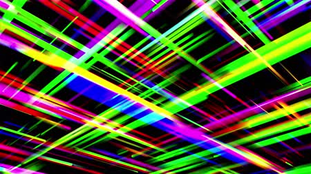 přímý : Abstract multicolored crossing beams on black background. 3D animation, seamless loop. Dostupné videozáznamy