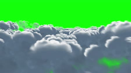 ahead : Quick flight over cumulus clouds in 4K resolution. Stock Footage
