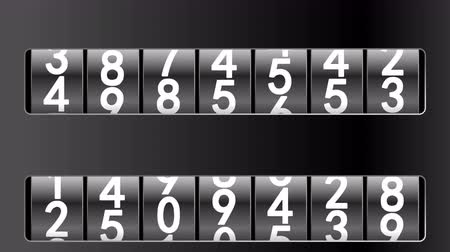 odometer : Counters in black frames moving up, 3d animation, seamless loop. Stock Footage