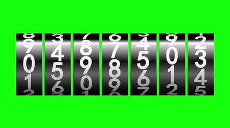 odometer : Black rollers of counter on green screen displays one million, 3d animation.