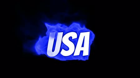 engulf : usa. text on fire. word in fire.high turbulence. Text in flames. Fire word. fire text. flame word. flame text. burning word. burning text Stock Footage