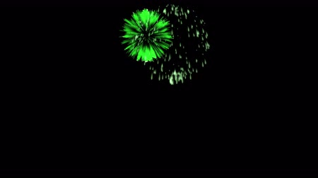 consecutivo : Colorful fireworks at night. Spectacular firecracker 3d render. Green version 6