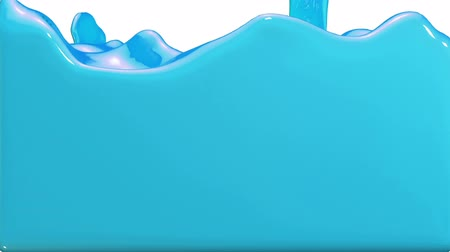 tenso : Animated blue car paint pouring and filling up screen. Alpha channel is included use luma matte. 3D Render view 27