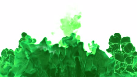 eleganckie : Dissolve green watercolor in water or smoke in air for effects and compositing with alpha mask. Use it for background, transition or overlays. 3d motion graphics element VFX ink or smoke. Version 17