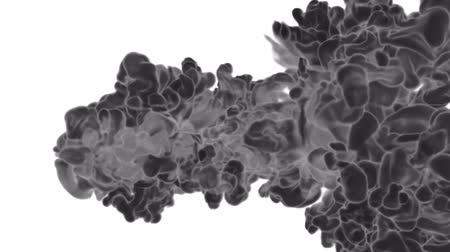 akvarell : Abstract background black Ink or smoke with alpha mask for motion effects and compositing VFX. Beautiful Ink clouds or smoke move in slow motion with luma matte