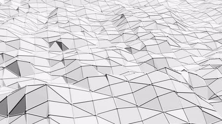 palpitação : Abstract simple black and white low poly waving 3D surface as complexity background. Grey geometric vibrating environment or pulsating background in cartoon low poly popular stylish 3D design..