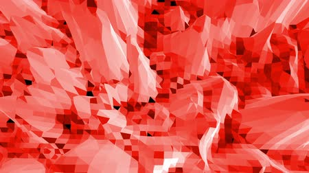 demonstrativní : Abstract red low poly surface as crystal mesh in stylish low poly design. Polygonal mosaic background with vertex, spikes. Red low poly background waving. Cartoon modern 3D design