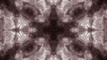 psychadelic background : Abstract black and white background of ink or smoke flows is kaleidoscope or Rorschach inkblot test in slow motion. Black Ink open in water. For alpha channel use luma matte as alpha mask. Stock Footage