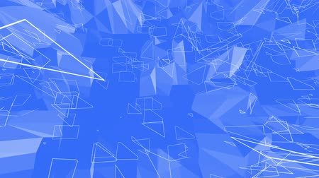 palpitação : Blue low poly vibrating surface as gorgeous background. Blue polygonal geometric vibrating environment or pulsating background in cartoon low poly popular modern stylish 3D design.
