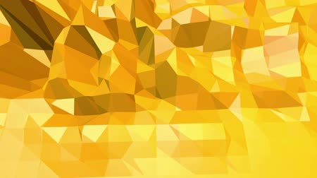 низкий : Yellow low poly background pulsating. Abstract low poly surface as crystal grid in stylish low poly design. Polygonal mosaic background with vertex, spikes. Cool modern 3D . Free space