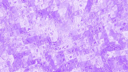 palpitação : Violet or purple low poly waving surface as clean backdrop. Violet geometric vibrating environment or pulsating background in cartoon low poly popular modern stylish 3D design 1. Stock Footage