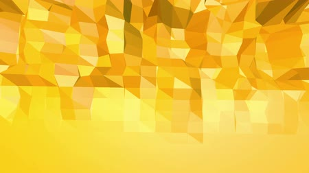 demonstrativní : Yellow low poly background oscillating. Abstract low poly surface as сomputer background in stylish low poly design. Polygonal mosaic background with vertex spikes. Free space