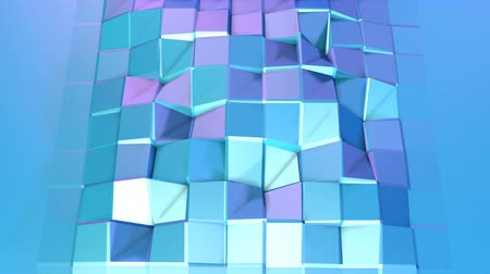 faceted : Abstract simple blue violet low poly 3D surface as unique background. Soft geometric low poly motion background with pure blue violet polygons. 4K Fullhd seamless loop background