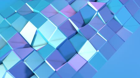 popisný : Abstract simple blue violet low poly 3D surface as fantasy background. Soft geometric low poly motion background with pure blue violet polygons. 4K Fullhd seamless loop background Dostupné videozáznamy