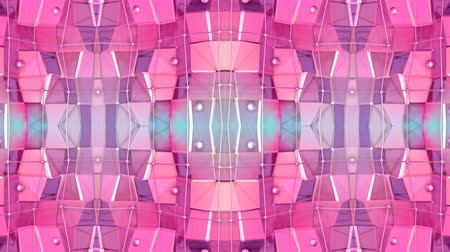 demonstrativní : Abstract simple 3D background in red purple gradient color, low poly style as modern geometric background or mathematical environment with kaleidoscopic effect. 4K UHD or FullHD seamless loop.