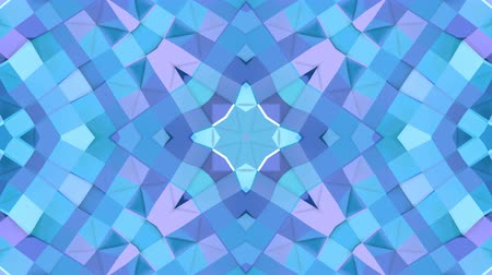 deformação : Abstract simple 3D background in blue purple gradient color, low poly style as modern geometric background or mathematical environment with kaleidoscopic effect. 4K UHD or FullHD seamless loop.