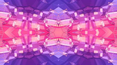 faceted : Abstract simple 3D background in red purple gradient color, low poly style as modern geometric background or mathematical environment with kaleidoscopic effect. 4K UHD or FullHD seamless loop.