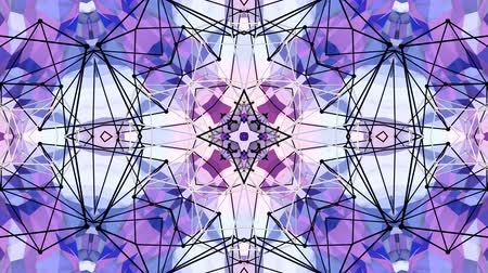 demonstrativní : Abstract simple 3D background in purple gradient color, low poly style as modern geometric background or mathematical environment with kaleidoscopic effect. 4K UHD or FullHD seamless loop. Dostupné videozáznamy